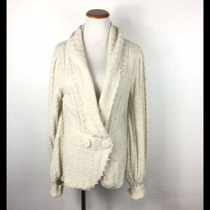 Anthropologie CableKnit Cardigan Style