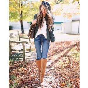 • Sam Edelman Silas tan knee boots size 9 •