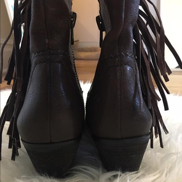 Sam Edelman Shoes - •Sam Edelman Louie brown fringe booties size 7.5•