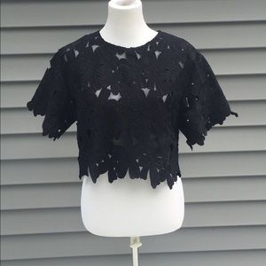 Tops - Akira Chicago Floral Lace Top
