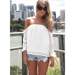Chiffon Off Shoulder Top