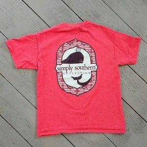 Simply Southern Other - Youth girls pink simply southern shirt