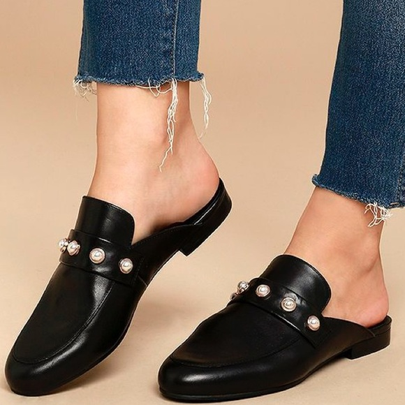 1592d343426 Steve Madden Kandi-P Loafer Slide Mules with Pearl.  M 5945a095d14d7bbd430820c8