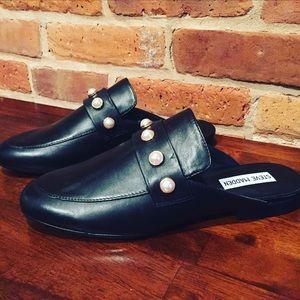 16f6fc2790c Steve Madden Shoes - Steve Madden Kandi-P Loafer Slide Mules with Pearl