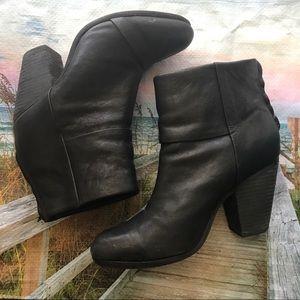 Rag & bone leather booties Black boots