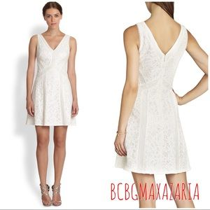 "NWT BCBGMaxazria ""Gracie"" Off-White Dress"