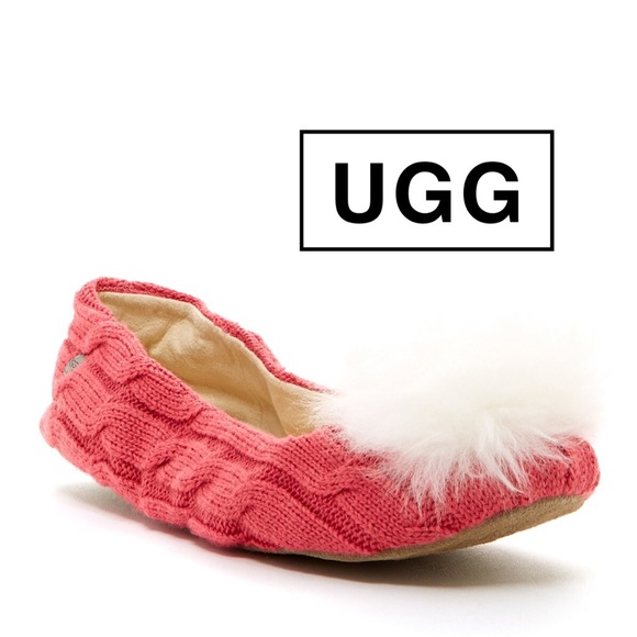 pink ugg knit boots