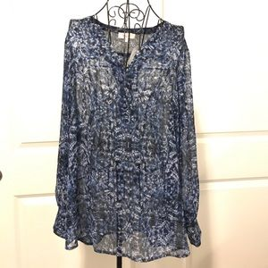Two by Vince Camuto Tops - Two by Vince Camuto Blue Long Sleeve Blouse