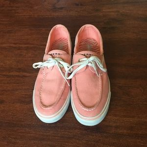 SPERRY Coral canvas boat shoes, size 10M