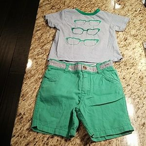 Andy & Evan Other - Andy & Evan toddler boy shorts and tshirt set