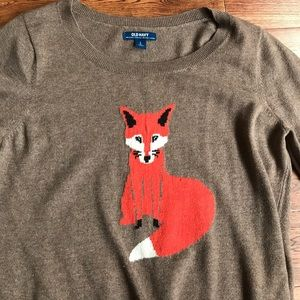 Old Navy Sweaters - Brown Old Navy Fox sweater
