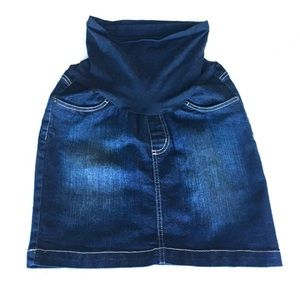 Motherhood Maternity Jean Skirt