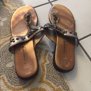 A. Giannetti Shoes - Stud Gold Sandals
