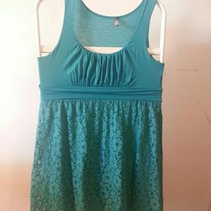Dresses & Skirts - Teal summer tank dress