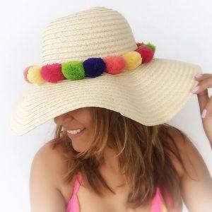 MischkaPu Accessories - ✨NEW💫 Floppy Pom Pom Sun Hat