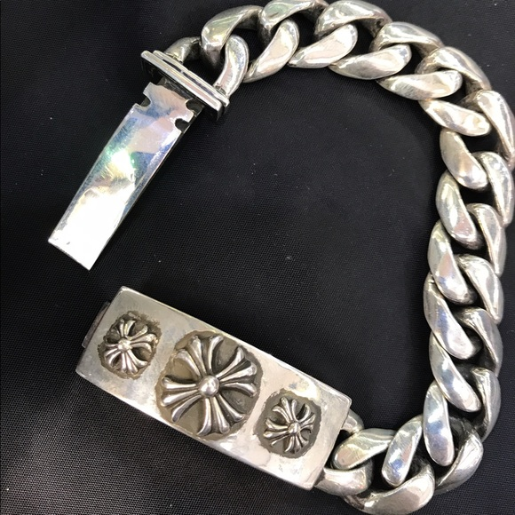 e6e4492d0f6 Authentic Chrome Hearts Heart Link 5 Id Bracelet 16014251sk -  Source. M  5945b4de78b31c3d99089024