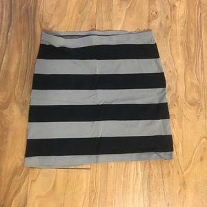 *Stripped Mini Skirt*