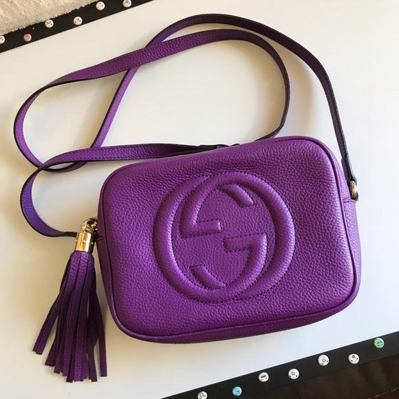 77822d1497a1 Gucci Handbags - SALEAuthentic Gucci Soho Disco Crossbody in Purple