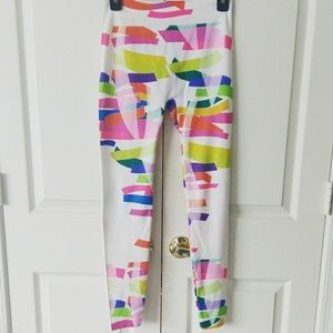 Pants - 🆕 white color blocked leggings