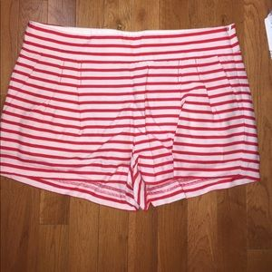 J. Crew Sailor Shorts. Red and White Striped.