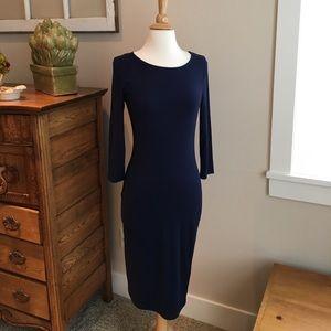 Dresses & Skirts - Bodycon Royal Navy blue minimalist dress medium