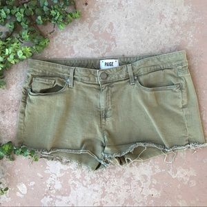 Paige Jeans Pants - Paige Catalina Cutoff Shorts Green
