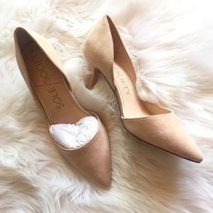 Sole Society Shoes - Sole Society Nude Heels Size 6.5