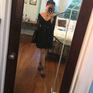 Alya Dresses & Skirts - Boho lace babydoll dress with flared sleeves