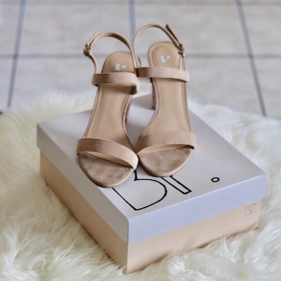 285fe557f52c bp Shoes - BP Lula Block Heel Slingback Sandals - Blush Suede
