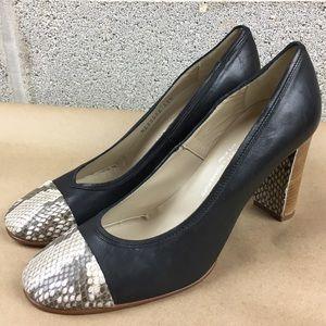 Agl Shoes - New AGL ITALY Toe Cap Shoes Block Heels Size 11.5M