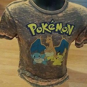 Pokemon Other - Pokemon Shirt, Mens small, gray and orange
