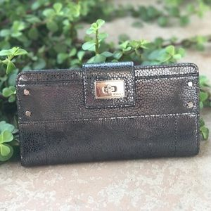 Milly Handbags - Milly Metallic Black Wallet