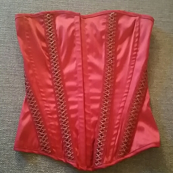 7500438d6f Charlotte Russe Tops - Size small deep red corset top