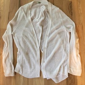 14th & Union Sweaters - 14th & Union White Fine Knit Open Back Cardigan