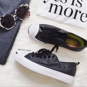 Converse 'Jack Purcell' Black Oxford Sneaker