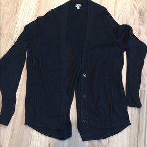 14th & Union Sweaters - 14th & union Black Fine Knit Open Back Cardigan
