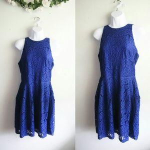 Mossimo Supply Co Dresses & Skirts - NWT Mossimo Blue Crochet Skater Dress