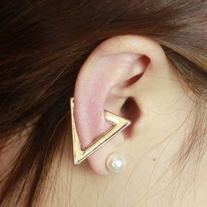 Jewelry - Gold triangle ear cuff