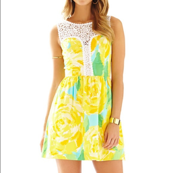 Lilly Pulitzer Dresses & Skirts - Lilly Pulitzer Sunglow Reagan Dress NWT
