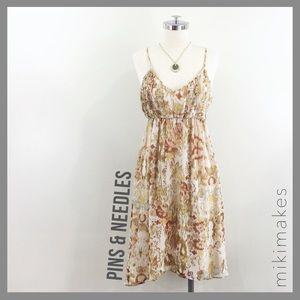[ pins & needles ] ikat print pleated midi dress