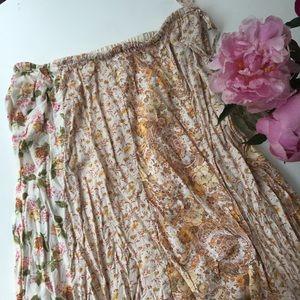 April Cornell Dresses & Skirts - April Cornell Floral Maxi hippy boho Skirt