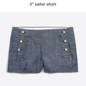 Sailor shorts - chambray