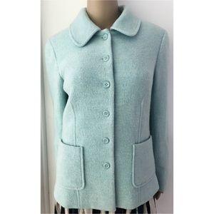 Pendleton Jackets & Blazers - EUC Pendleton Mod Collar Tiffany Blue Peacoat