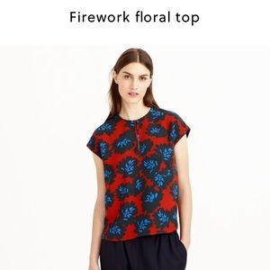 J. Crew Tops - J. Crew firework floral blouse
