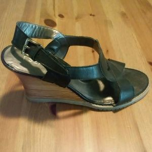RSVP Shoes - Black and tan RSVP wedges