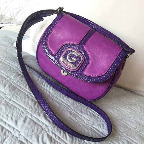 G by Guess Handbags - Authentic Guess Purple Crossbody Bag 04178af7df46b