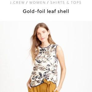 J. Crew Tops - J. Crew gold foil shell