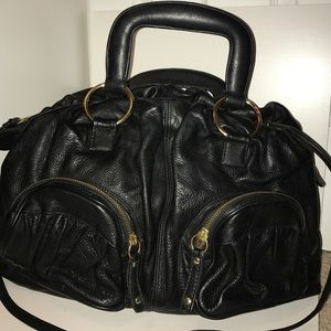 bulga Handbags - Bulga black leather bag