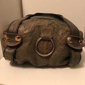gustto Handbags - Gustto grey leather shoulder bag