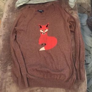 Old Navy Sweaters - M Old Navy Fox Sweater. Worn once.